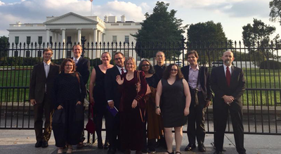 Hieroglyph authors in White House visit 2014